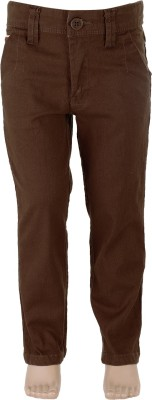 Ice Boys Slim Fit Boy's Brown Trousers