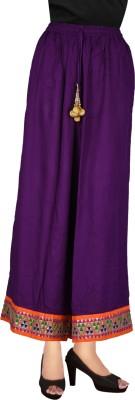 Decot Paradise Regular Fit Women's Purple Trousers