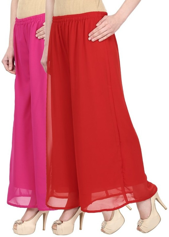 SYS Regular Fit Women's Pink, Red Trousers