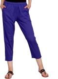 Rama Regular Fit Girls Blue Trousers
