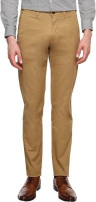 Arrow Sports Slim Fit Men's Beige Trousers