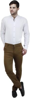 Feels Good Slim Fit Men's Beige Trousers