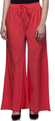 Laabha Regular Fit Women's Red Trousers