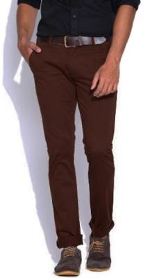 American Chinos Regular Fit Men's Brown Trousers