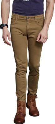 Route 66 Skinny Fit Men's Beige Trousers