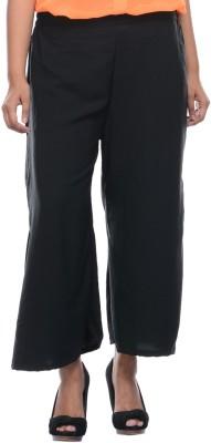 Lavennder Regular Fit Women's Black Trousers