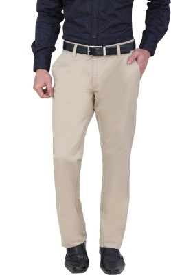 Louppee Regular Fit Men,s Beige Trousers