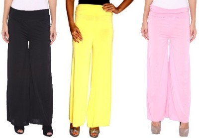 Zadine Regular Fit Women,s Black, Yellow, Pink Trousers