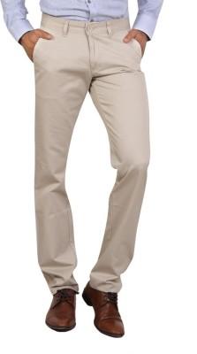 Bottoms Slim Fit Men's Beige Trousers