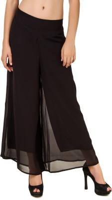 Ess Cee Regular Fit Women's Black Trousers
