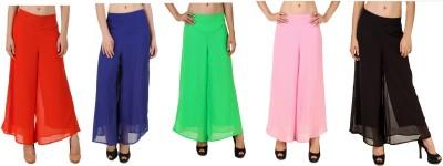 CHIKFAB Regular Fit Women's Blue, Black, Pink, Orange, Green Trousers