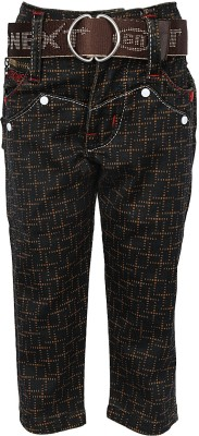 Generationext Regular Fit Baby Boy's Brown Trousers