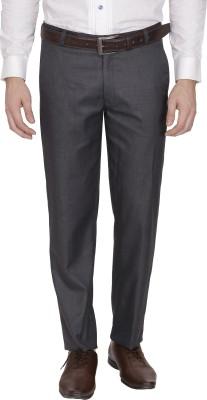 FranklinePlus Regular Fit Men,s Grey Trousers