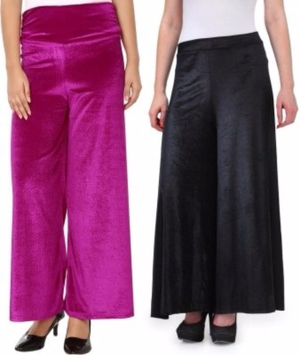 Viba London Regular Fit Women's Pink, Black Trousers