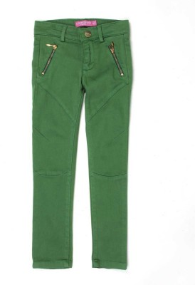 London Fog Regular Fit Girl's Green Trousers