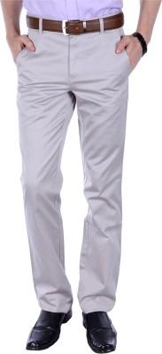 FRANK JEFFERSON Slim Fit Men's Grey Trousers