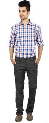 Carbon Slim Fit Mens Black Trousers