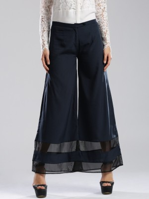 Dressberry Regular Fit Women's Dark Blue Trousers at flipkart