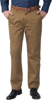 Sparky Slim Fit Mens Brown Trousers