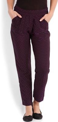 Tokyo Talkies Slim Fit Women's Purple Trousers