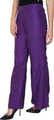 1To9 Regular Fit Womens Purple Trousers