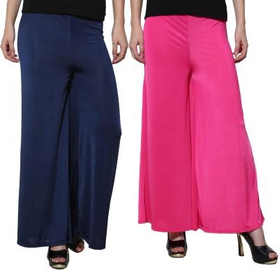 Both11 Regular Fit Women's Purple, Dark Blue Trousers