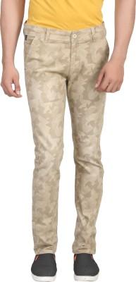 ELVIN Slim Fit Men's Cream Trousers