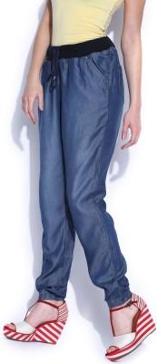 HRX by Hrithik Roshan Regular Fit Women's Blue Trousers