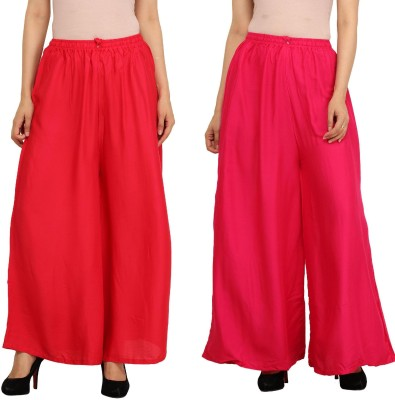 Guru Nanak Fashions Regular Fit Women's Red, Pink Trousers