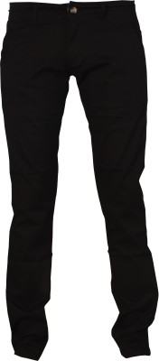 Le-Meiux Slim Fit Men's Black Trousers