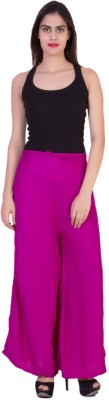 CURVYY Regular Fit Women's Pink Trousers