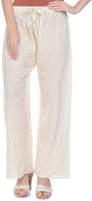 Aarushi Fashion Regular Fit Women's Cream Trousers