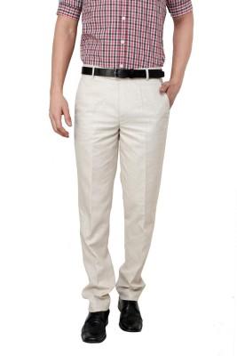 Zaab Regular Fit Men,s Brown Trousers