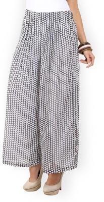 Max Regular Fit Women's Black, White Trousers