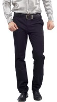 London Bridge Slim Fit Mens Black Trousers