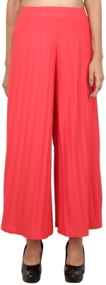 LondonHouze Regular Fit Women's Orange Trousers