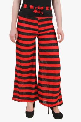 Modattire Regular Fit Women's Red, Black Trousers