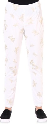 Oxolloxo Regular Fit Women's White Trousers at flipkart