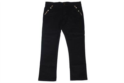 Piperz Slim Fit Boy's Black Trousers