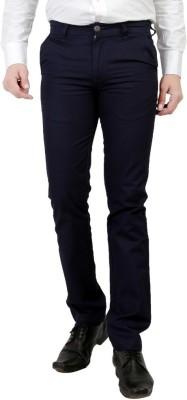 Wood Slim Fit Men's Dark Blue Trousers