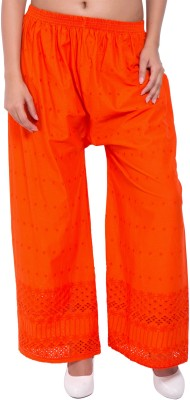 diva boutique Regular Fit Womens Orange Trousers