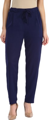 Miss Chase Regular Fit Women's Blue Trousers at flipkart