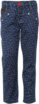 Generationext Regular Fit Baby Boy's Blue Trousers