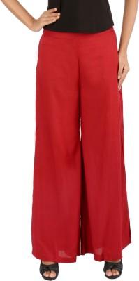 Belinda Regular Fit Women's Red Trousers