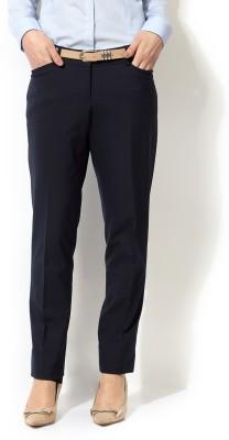 Allen Solly Skinny Fit Women,s Dark Blue Trousers