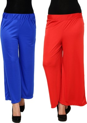 Limeberry Regular Fit Women's Blue, Red Trousers