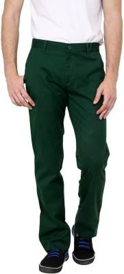 Cotton County Premium Slim Fit Men's Green Trousers