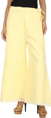 Pink N Lime Regular Fit Women's Yellow Trousers