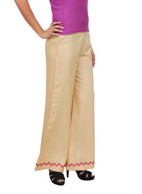 1To9 Regular Fit Womens Beige Trousers