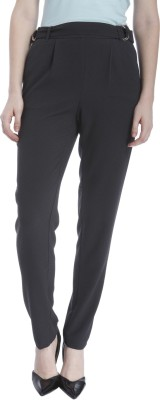 Vero Moda Regular Fit Women's Black Trousers at flipkart